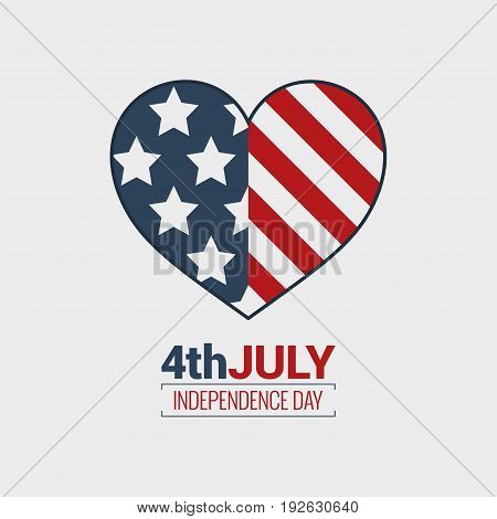 july fourth logo. Independence day design background 10eps