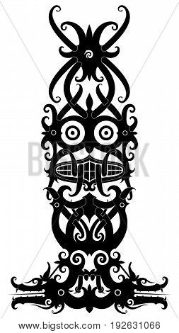 west borneo dayak tribal design for tatto