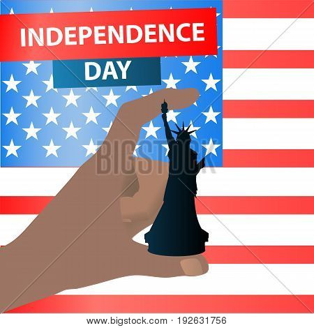 Independence Day United States. Hand