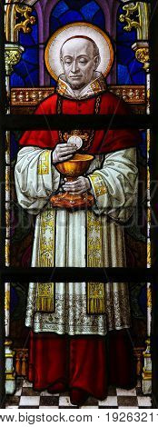 Stained Glass - Catholic Cardinal