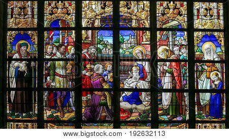 Stained Glass - Epiphany Scene
