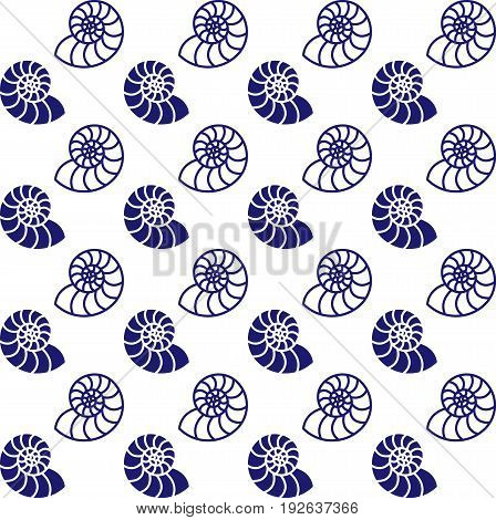 Marine style seamless backdrop. Endless sea shell background for pattern fills textile decorative paper. EPS 10 vector
