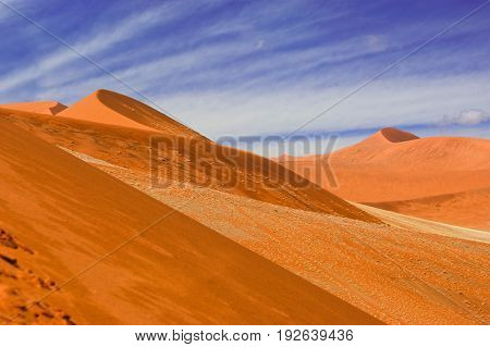 View of the dunes in Namib desert in Namibia