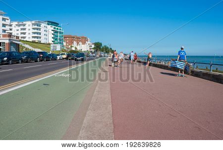 Southend on sea UK - June 18 2017: Promenade in a summer day