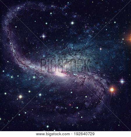 Spiral Galaxy In Deep Space.