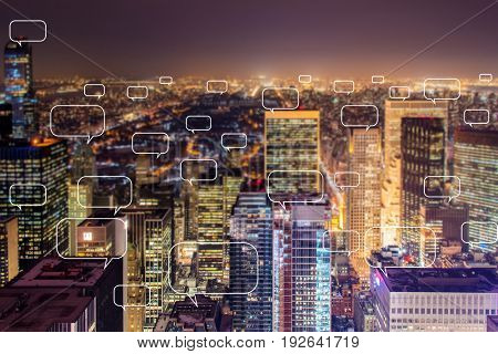Concept of social networking with city