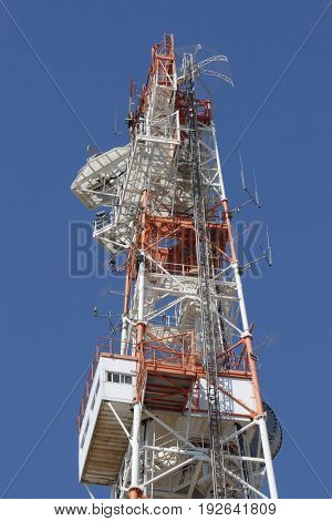 A tower for communication and surveillance at the Lebanese border with Israel