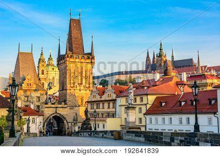 Charles Bridge in Prague, Czech Republic - Bohemia