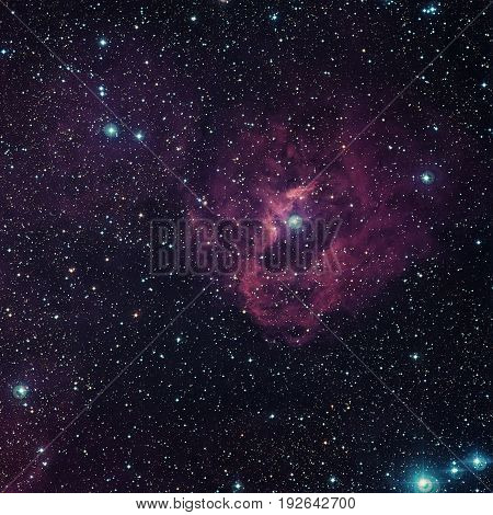 Cloud Of Hydrogen And Newborn Stars Called Gum 41.