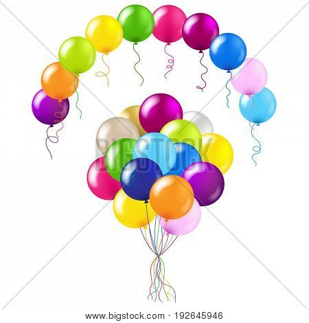 Balloons Colorful Set