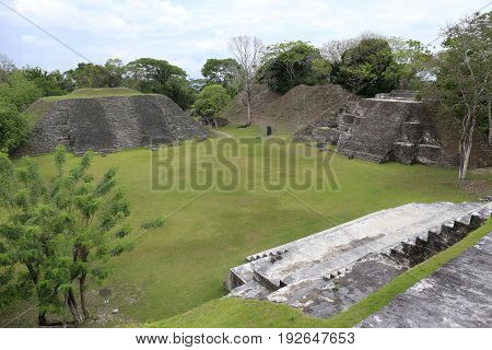 Xunantunich mayan Ruins on the border to Guatemala in Belize