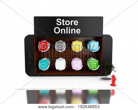 3D Smartphone With App Store.