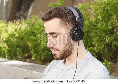 Man Listening To Music.