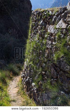 Inca Ruins at Runkurakay along the Inca Trail, Peru