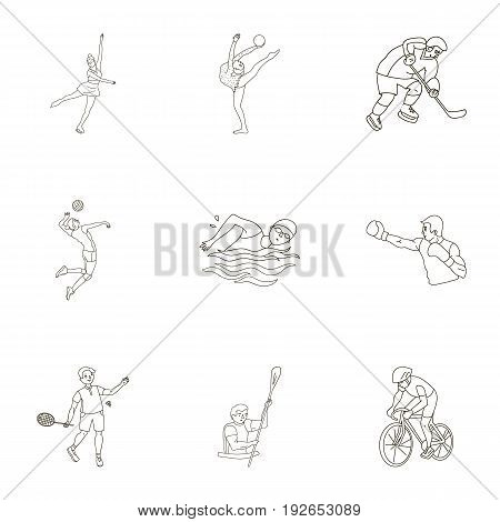 Olympic sports. Winter and summer sports. A set of pictures about athletes.Olympic sports icon in set collection on outline style vector symbol stock web illustration.