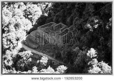 Inca Ruin along the Inca Trail, Peru