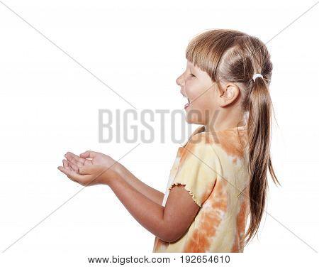 Laughing Girl Catching