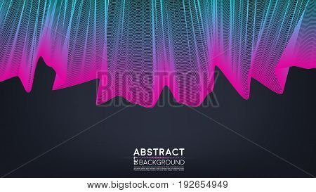 Abstract shining wave background. Vector stock. EPS 10.