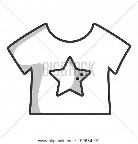 line baby t-shirt and textile clothes vector illustration