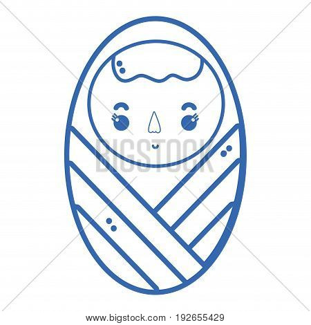 silhouette baby boy with pacifier and hairstyle vector illustration