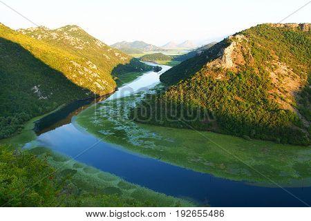 Rijeka Crnojevica River near Skadar Lake, Montenegro, Europe