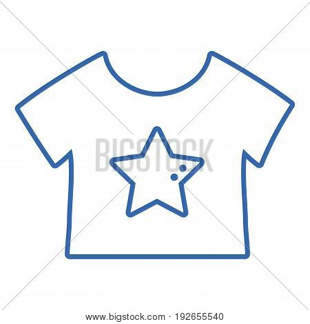 silhouette baby t-shirt and textile clothes vector illustration