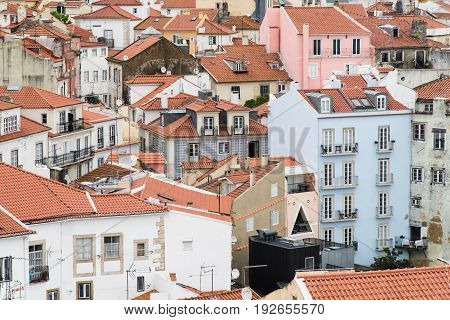 Lisboa Rooftops From Miradouro Das Portas Do Sol