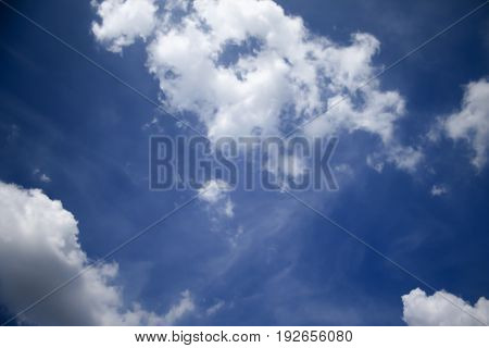 blue sky with cloud nature beautiful background