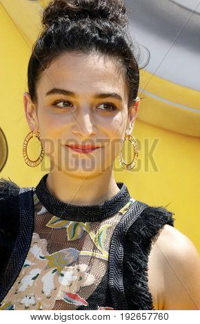 Jenny Slate at the World premiere of 'Despicable Me 3' held at the Shrine Auditorium in Los Angeles, USA on June 24, 2017.