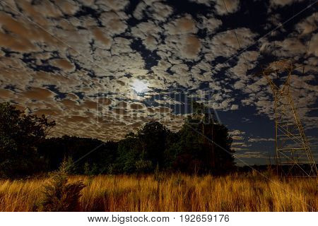 Cloudy night sky with moon and star. Elements of this image CLOUD NIGHT SKY