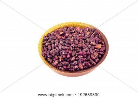 Canned Red Kidney Beans In Ceramic Bowl