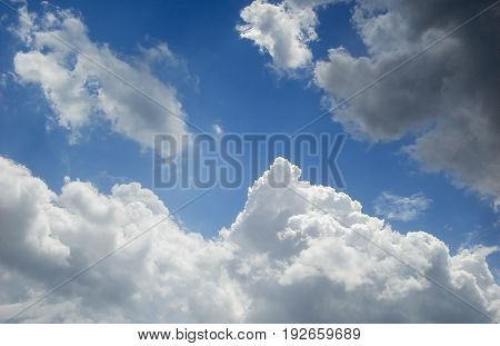 Sky, blue sky and clouds, blue sky background, beautiful sky and clouds in the good day, blue sky, clouds