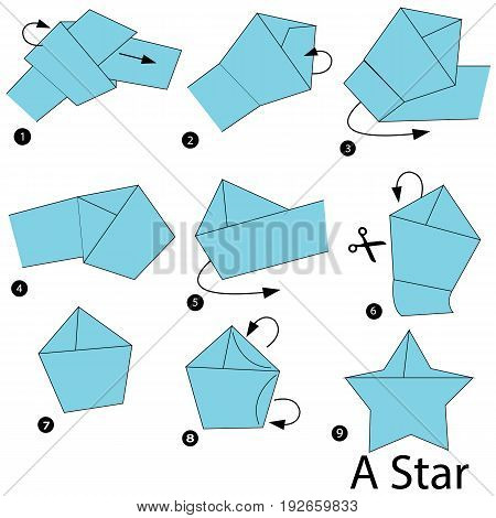 step by step instructions how to make origami A Star