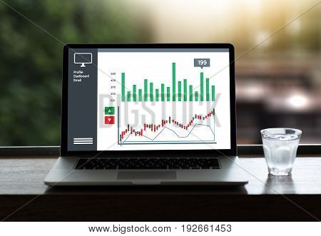 Analysis The Market  Business Team Investment Entrepreneur Trading Checking Stock Market On Tablet F
