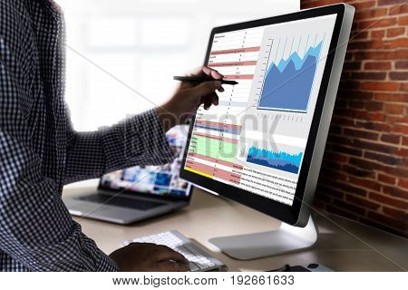 Work Hard Data Analytics Statistics Information Business Technology