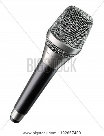 Wireless microphone with flat top side isolated on white background - 3d illustration