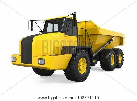 Articulated Dump Truck isolated on white background. 3D render