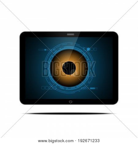 Technology Digital Cyber Security Eye Computer Tablet