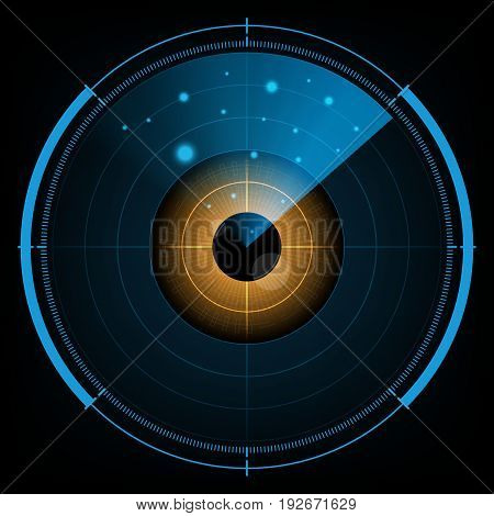 Technology Digital Future Abstract Radar Screen Watching Eye Background