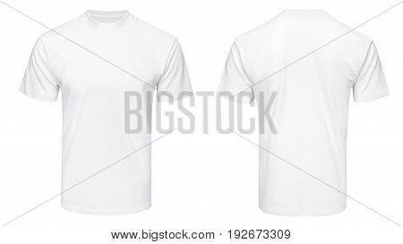 white tshirt, clothes on isolated white background