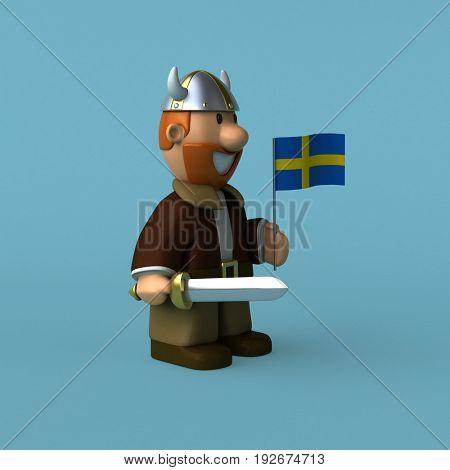 Viking - 3D Illustration