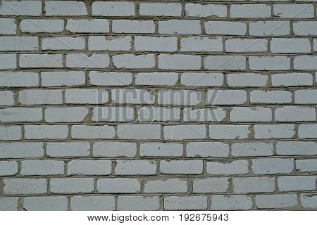 Texture of white and gray brick wall
