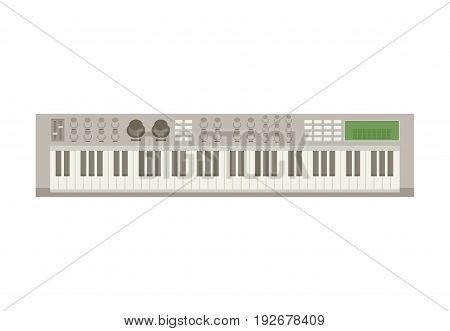 Electric Piano. Flat vector colorful illustation isolated.