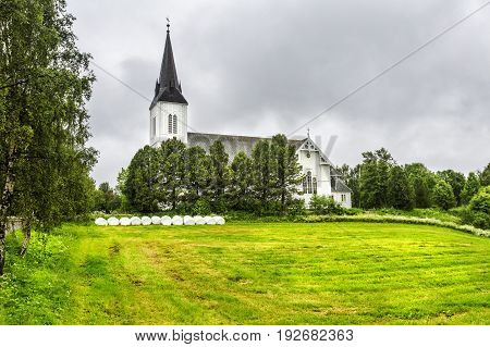 Sortland Church In Sortland In Nordland County, Norway
