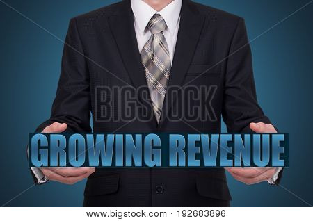 Businessman presenting a sustainable development concept. Businessman holding a virtual word.