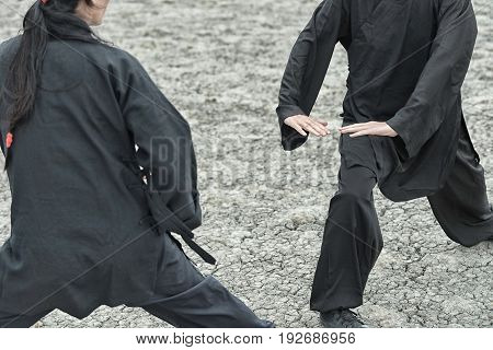 Qi Gong, Outdoors Image, Toned Image, Horizontal Image