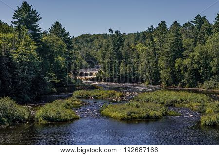 Lower Tahquamenon Falls in Michigan's upper peninsula