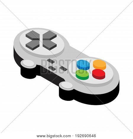 Video game controller Isometric of flat style vector illustration,   Isolated on white background.