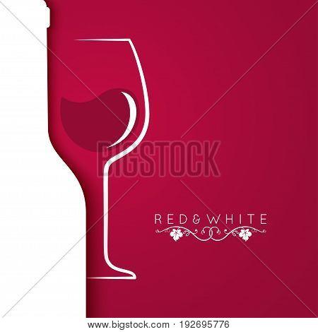 wine glass logo menu design background 10 eps