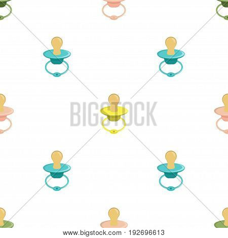 Seamless pattern with baby pacifier, children seamless pattern